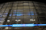 Blackfriars Station at night